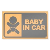 Baby in Car Rectangle  Aufkleber