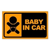 Baby in Car Rectangle Bumper Stickers