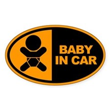 Baby in Car Safety Sticker for Cars
