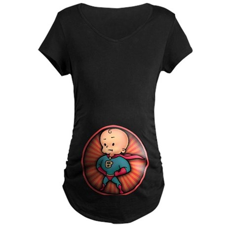 Future Hero Baby Maternity Dark T-Shirt
