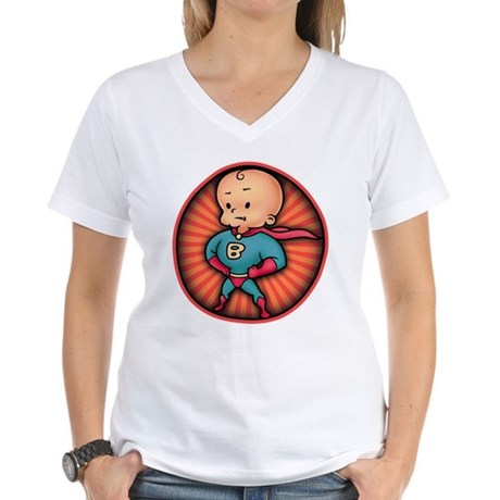Future Hero Baby Women's V-Neck T-Shirt