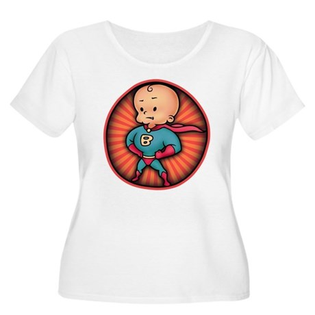 Future Hero Baby Women's Plus Size Scoop Neck T-Sh