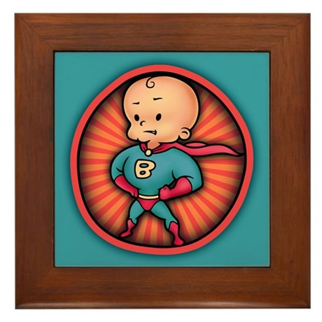Future Hero Baby Framed Tile