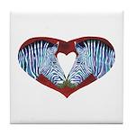 Love is Not Black & White Tile Coaster