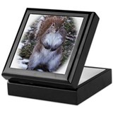 Snowflake Squirrel Keepsake Box