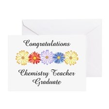 Chemistry Teacher Graduation Greeting Card
