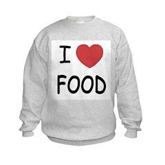 I heart food Kids Sweatshirt