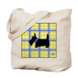 Blue and Yellow Scottie Tote Bag
