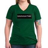 Maranatha (Come Lord Jesus) Women's V-NeckT-Shirt