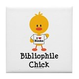 Bibliophile Chick Tile Coaster