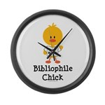 Bibliophile Chick Large Wall Clock