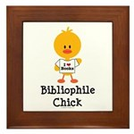 Bibliophile Chick Framed Tile