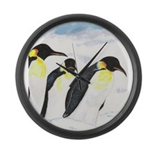 Penguins- God's Creatures Large Wall Clock