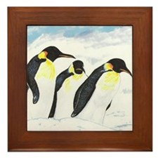 Penguins- God's Creatures Framed Tile