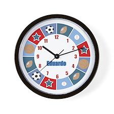 Eduardo Sports Wall Clock