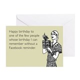 Without Facebook Reminder Greeting Card
