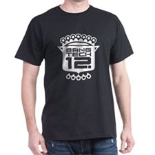 10x10 Center White T-Shirt