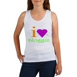 I Love Bloggin Women's Tank