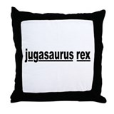 jugasaurus rex Throw Pillow