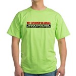 Why Experiment on Animals Green T-Shirt