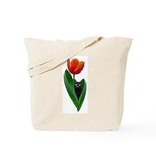 Tulip Cat Tote Bag