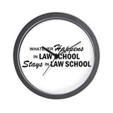 Whatever Happens - Law School Wall Clock