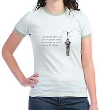 BP Oil Leak Plug Jr. Ringer T-Shirt