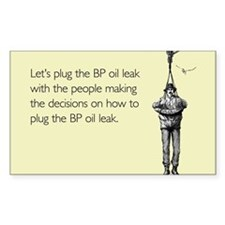 BP Oil Leak Plug Sticker (Rectangle)