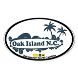 Oak Island NC - Surf Design Decal