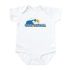 Oak Island NC - Waves Design Infant Bodysuit
