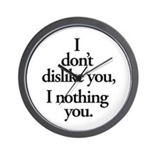 Nothing You Wall Clock