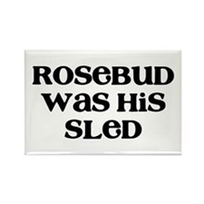 Rosebud Rectangle Magnet