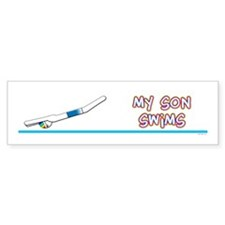 My Son Swims Bumper Bumper Sticker