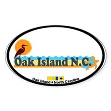 Oak Island NC - Beach Design Decal