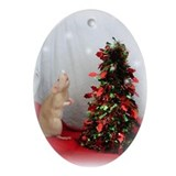 The Rat &amp;amp; The Christmas Tree Ornament (Oval)