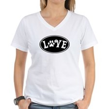 Love Paw Black Oval Shirt