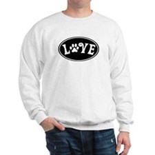 Love Paw Black Oval Sweatshirt