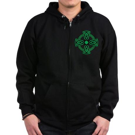 Celtic Cross Zip Hoodie (dark)