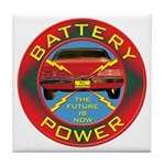 Battery Power Tile Coaster