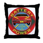 Battery Power Throw Pillow