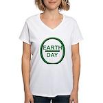 Earth Day Women's V-Neck T-Shirt