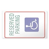Disabled Persons Personal Sticker (Rectangular)