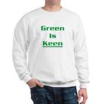 Green is keen Sweatshirt