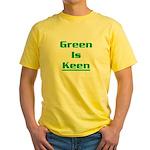 Green is keen Yellow T-Shirt