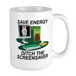 Save energy Large Mug