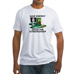 Save energy Fitted T-Shirt