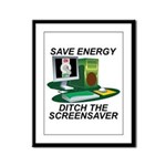 Save energy Framed Panel Print