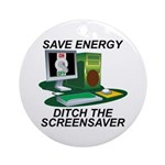 Save energy Ornament (Round)