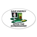 Save energy Sticker (Oval)