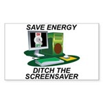 Save energy Sticker (Rectangle)